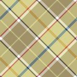 Beige plaid diagonal fabric texture seamless pattern Royalty Free Stock Photos