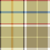 Beige plaid fabric texture seamless pattern Stock Images