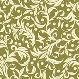 Beige plants. Seamless pattern from beige plants(can be repeated and scaled in any size Royalty Free Stock Image