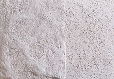 Beige plaster textured background. Abstact beige stucco. Texture of plaster on the wall. Close-up, macro. Some copy space for your text. Abstract textured stock image