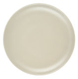 Beige plate isolated on white background. Royalty Free Stock Photo