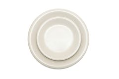 Beige plate and saucer isolated top view Royalty Free Stock Photo