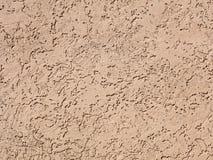 Beige pleister op muur, plasterwork, zandtextuur Stock Fotografie