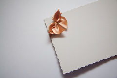 Beige postcard Royalty Free Stock Images