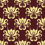 Beige and purple floral seamless pattern Royalty Free Stock Photography