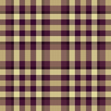 Beige and purple plaid. Fashionable beige and purple seamless plaid pattern Stock Image