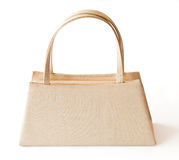 Beige purse isolated Royalty Free Stock Image