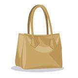 Beige purse lady fashion style. Vector illustration eps 10 Royalty Free Stock Photo