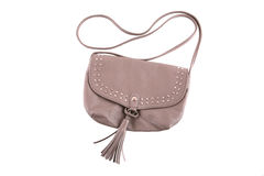 Beige purse with rivets Stock Photography