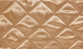 Beige Quilted Background. Royalty Free Stock Photos