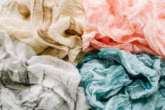Beige, red, grey. And blue textile royalty free stock photography