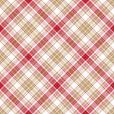 Beige red white fabric seamless pattern Stock Photography