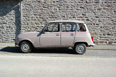 Beige Renault 4 Royalty Free Stock Photos