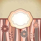 Beige retro antique template. Tag Stock Photography