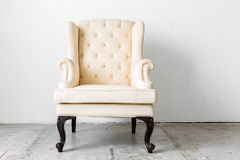 beige retro chair Stock Photo