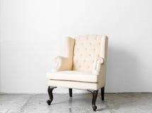 beige retro chair Stock Photos