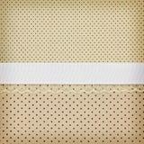 Beige retro polka dot textile Stock Photos