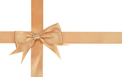 Beige ribbon Royalty Free Stock Image