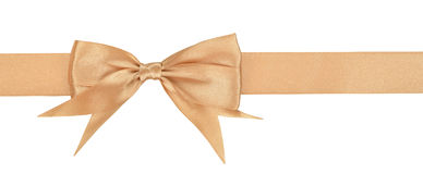Beige ribbon Stock Photography