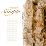 Beige rock Royalty Free Stock Photography