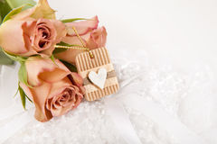 Beige roses Royalty Free Stock Photo
