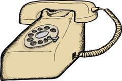 Beige Rotary Telephone Stock Image