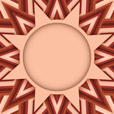 Beige round text or photo layout on decorative background of brown shades Stock Photo
