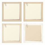 Beige rustic blank cards. Vector eps-10. Set of four beige rustic blank cards. Vector eps-10 Stock Image
