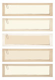 Beige rustic blank web banners. Vector eps-10. Set of five beige rustic blank web banners. Vector eps-10 Stock Images