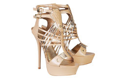 Beige  sandals Royalty Free Stock Photos