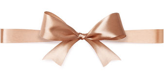 Beige satin bow Royalty Free Stock Photo