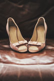 Beige Schuhe Stockfotos