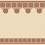 Beige vector seamless background with floral borde Stock Photography