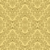 Beige seamless damask Pattern Royalty Free Stock Photo