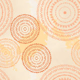 Beige seamless ethnic pattern. Vector illustration handmade. The circular pattern Stock Photo