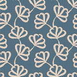 Beige seamless floral pattern Stock Photos