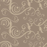 Beige seamless floral pattern Royalty Free Stock Images