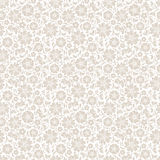 Beige seamless floral pattern. Vector illustration. Royalty Free Stock Images