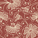 Beige seamless flower pattern Royalty Free Stock Photo