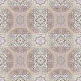 Beige seamless lace pattern background Royalty Free Stock Photography