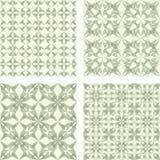 Beige seamless pattern background set. Beige abstract seamless vector pattern background set Stock Photos