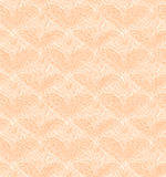 Beige seamless pattern with linear hearts. Decorat Royalty Free Stock Photo