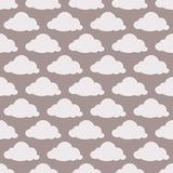 Beige seamless background with clouds Royalty Free Stock Photo