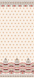 Beige seamless pattern with wide border Stock Images