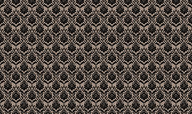 Beige Seamless wallpaper pattern Stock Photography