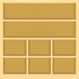 Beige shelves. Shelves of wood for the store. vector format Royalty Free Stock Image