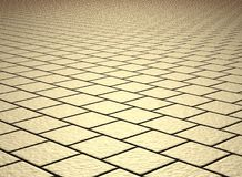 Beige shiny tiled floor Stock Images