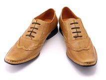 Beige shoes Stock Photo