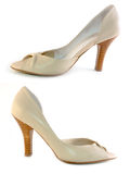 Beige shoes Stock Images