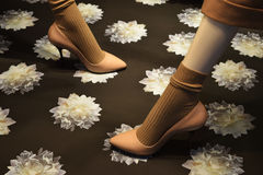 Beige shoes Royalty Free Stock Photo